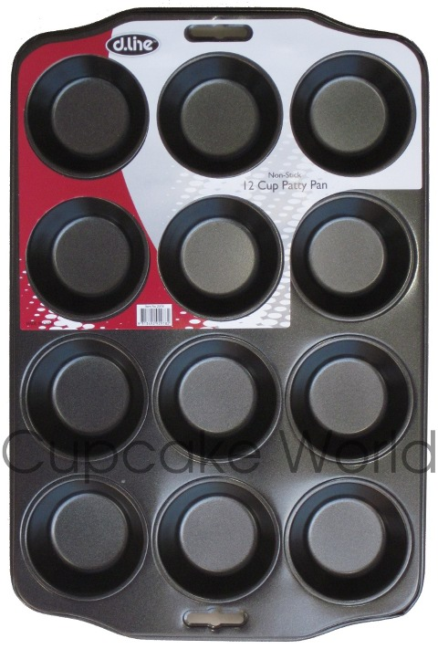 12 CUP PATTY CUPCAKE MUFFIN TRAY PAN TIN NONSTICK PETIT