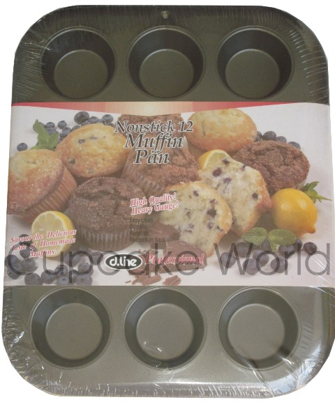 12 CUP CUPCAKE MUFFIN TRAY PAN TIN NON-STICK STD