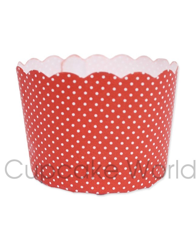 ROBERT GORDON RED DOT PETIT MUFFIN CUP CUPCAKE CASES X50