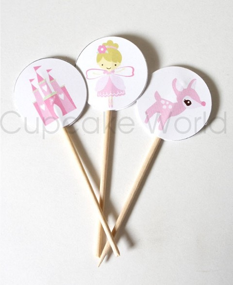 ROBERT GORDON SWEET FAIRY PRINCESS CUPCAKE TOPPERS 24pc