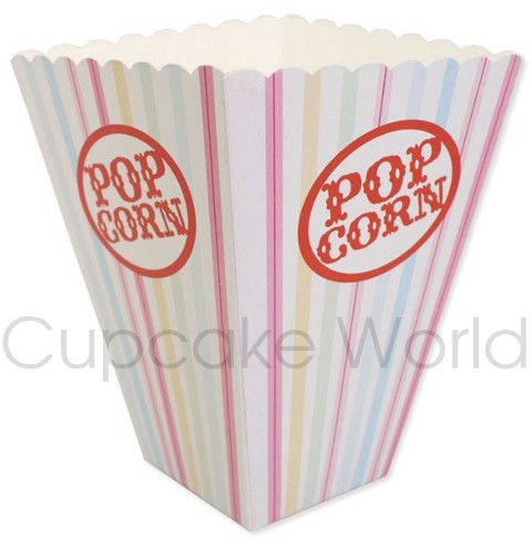 ROBERT GORDON GELATI STRIPE PARTY PAPER POPCORN BOX x6