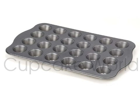 24 CUP CUPCAKE MUFFIN TRAY PAN TIN NON-STICK MINI