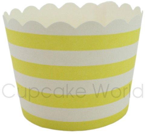 ROBERT GORDON YELLOW STRIPES CUPCAKE BAKING CUPS PETIT x25