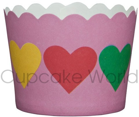 ROBERT GORDON PINK HEARTS CUPCAKE BAKING CUPS PETIT 25PCS