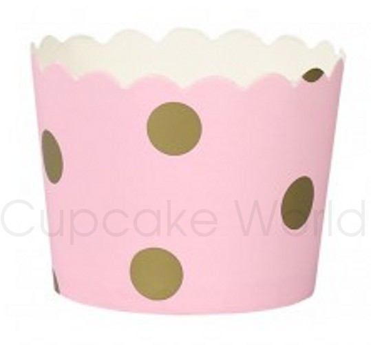 ROBERT GORDON PREMIUM PINK GOLD SPOTS PAPER BAKING CUPS 25PCS