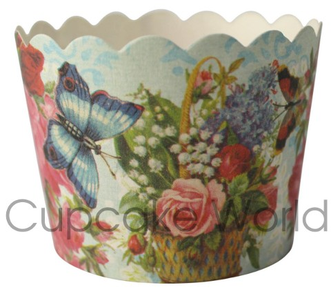 ROBERT GORDON BUTTERFLY & ROSES CUPCAKE BAKING CUPS PETIT x25