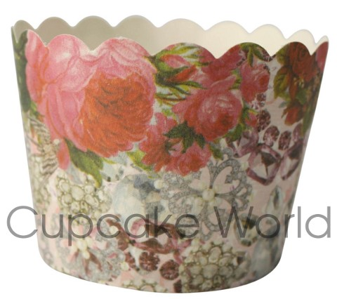 ROBERT GORDON ROSES & JEWELS CUPCAKE BAKING CUPS PETIT x25