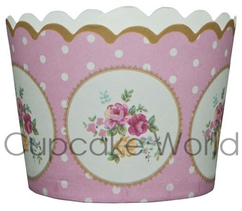 ROBERT GORDON PINK CAMEO CUPCAKE MUFFIN BAKING CUPS PETIT 25PCS