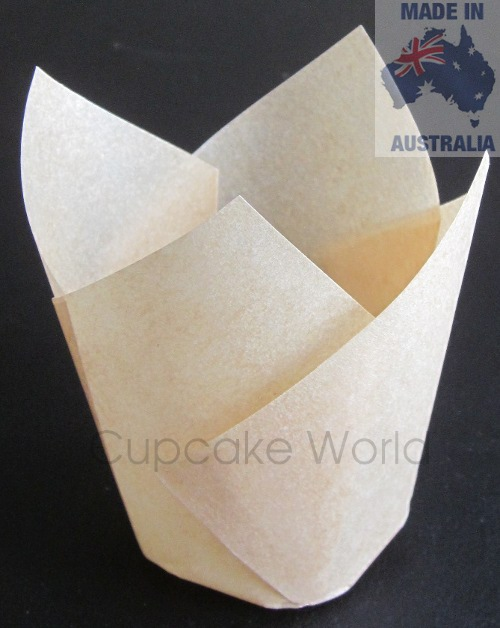 25PC CAFE STYLE NATURAL PAPER CUPCAKE MUFFIN WRAPS STANDARD