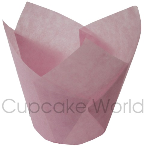 100PC CAFE STYLE PINK PURPLE PAPER CUPCAKE MUFFIN WRAPS STANDARD