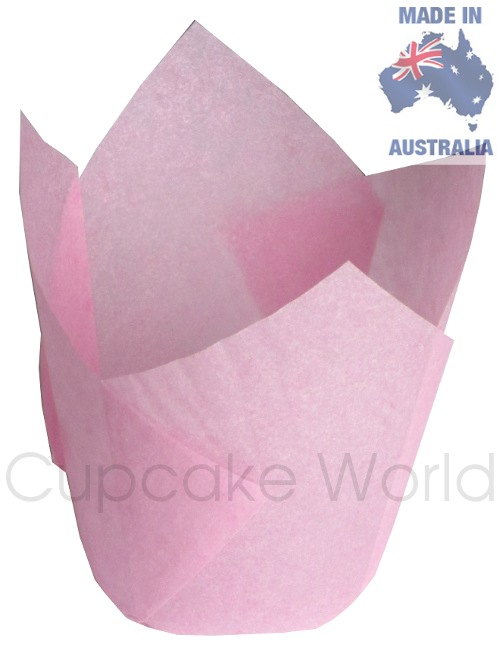 200PC CAFE STYLE PINK PURPLE PAPER CUPCAKE MUFFIN WRAPS JUMBO