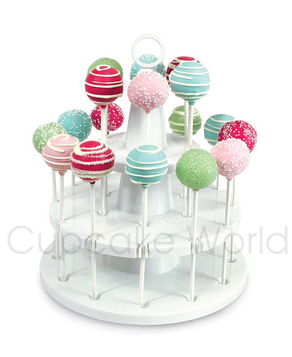 BAKELICIOUS CAKE POP STAND FOR 18 CAKE POPS 2 TIERS CUPCAKE