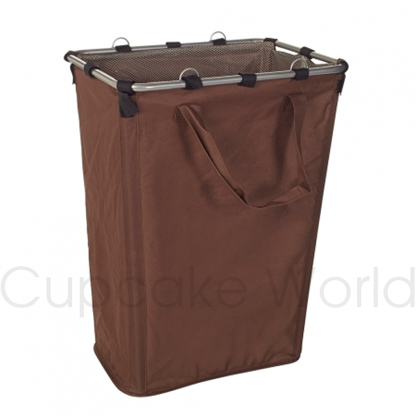 LARGE BROWN LAUNDRY HAMPER COLLAPSIBLE FOLDABLE TOY BASKET