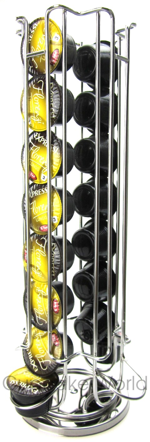 ALDI EXPRESSI MAP COFFEE CAPSULE ROTATING RACK STAND FOR 32 PODS