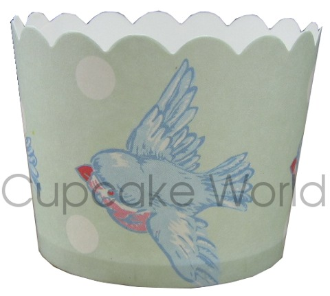 ROBERT GORDON PREMIUM BLUE BIRD CUPCAKE BAKING CUPS PETIT 25PCS