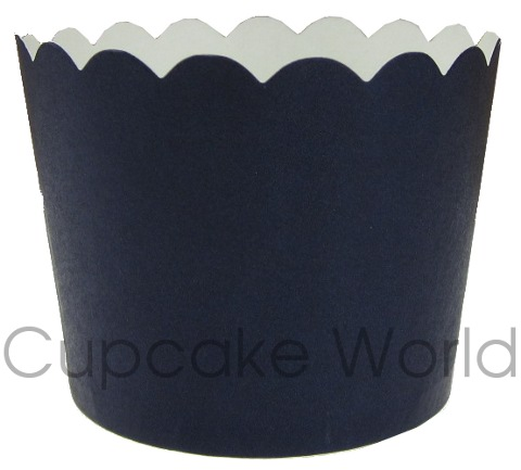 ROBERT GORDON NAVY BLUE CUPCAKE BAKING CUPS PETIT x25