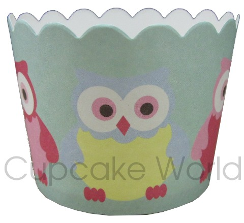 ROBERT GORDON CUTE OWL CUPCAKE BAKING PAPER CUPS PETIT x25