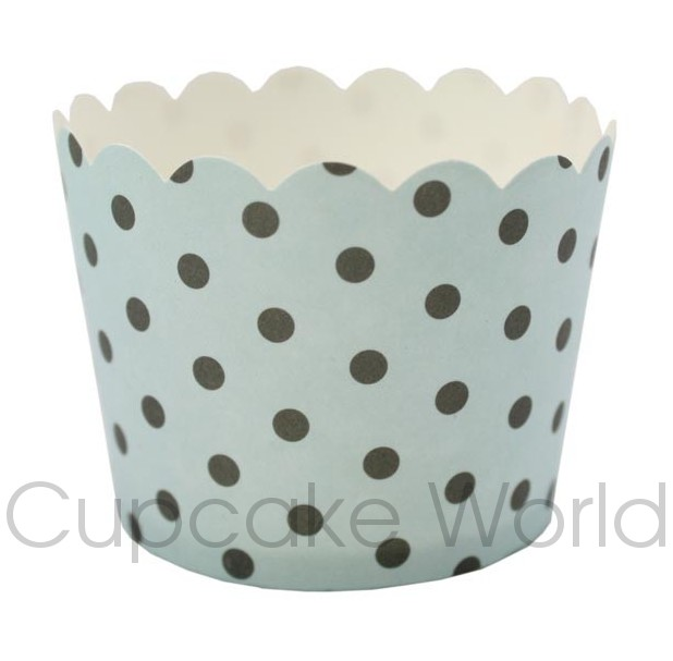 ROBERT GORDON BLUE SPOTS CUPCAKE BAKING CUPS PETIT x25