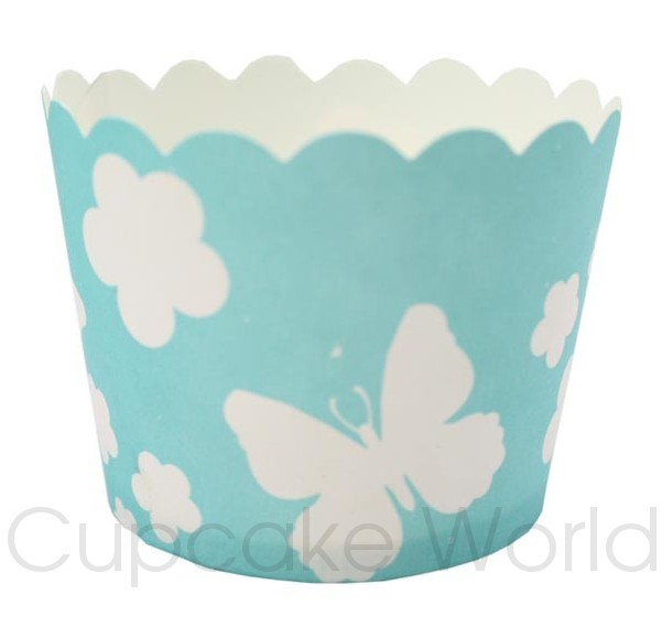 ROBERT GORDON BLUE BUTTERFLY CUPCAKE BAKING CUPS PETIT x25
