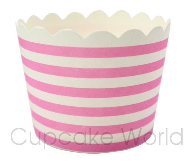 ROBERT GORDON PINK STRIPES CUPCAKE BAKING CUPS PETIT x25