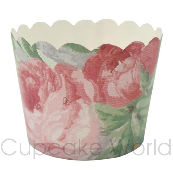 ROBERT GORDON FLORAL ROSE CUPCAKE BAKING CUPS PETIT x25