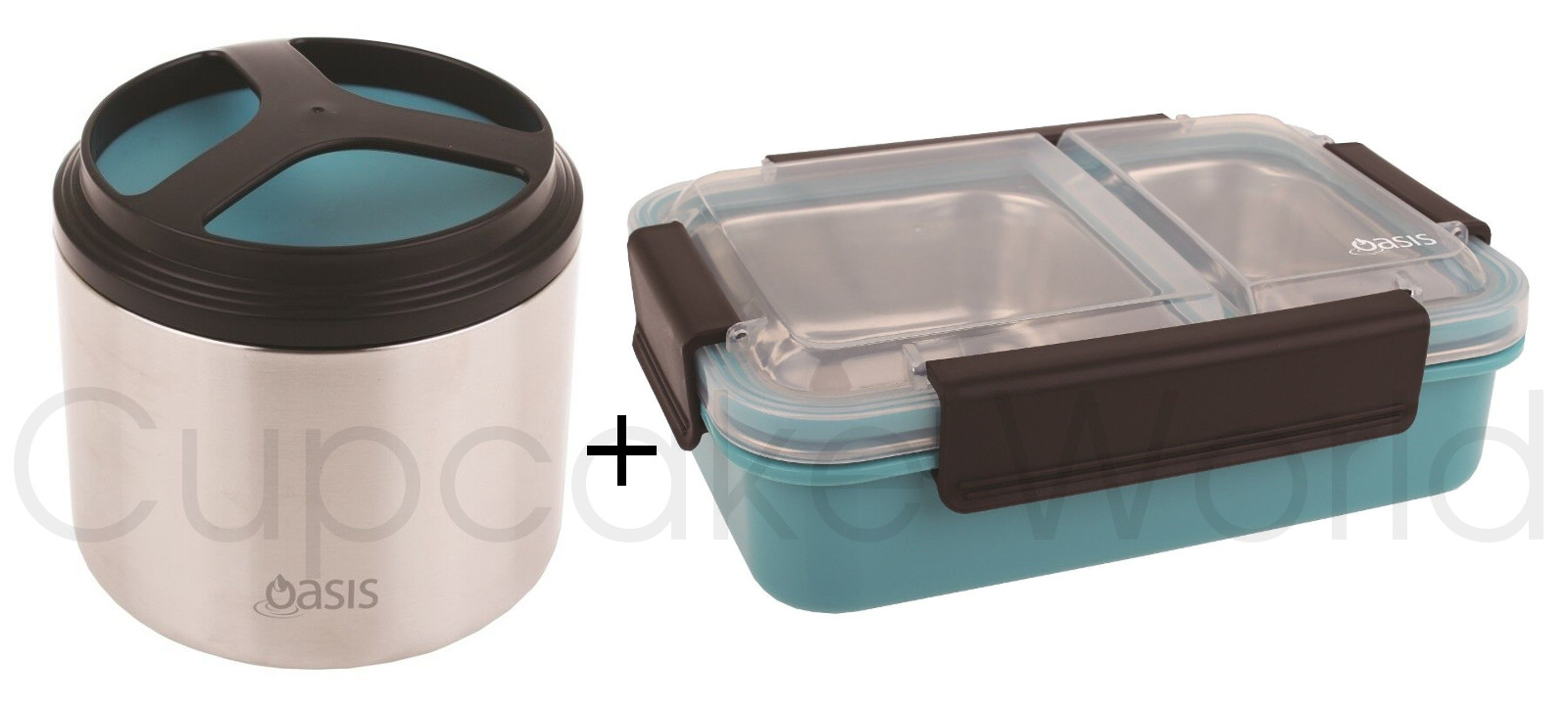 BLUE OASIS STAINLESS STEEL 1L VACUUM FOOD CONTAINER & LUNCH BOX!