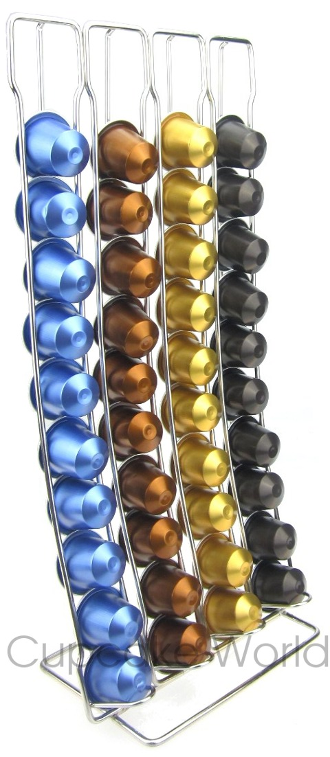 MODERN SLIDE IN COFFEE CAPSULE RACK STAND FOR 40 NESPRESSO POD