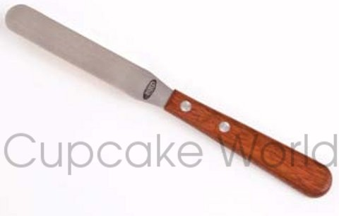 DLINE CAKE ICING SPATULA PALETTE KNIFE WITH WOODEN HANDLE - 10CM