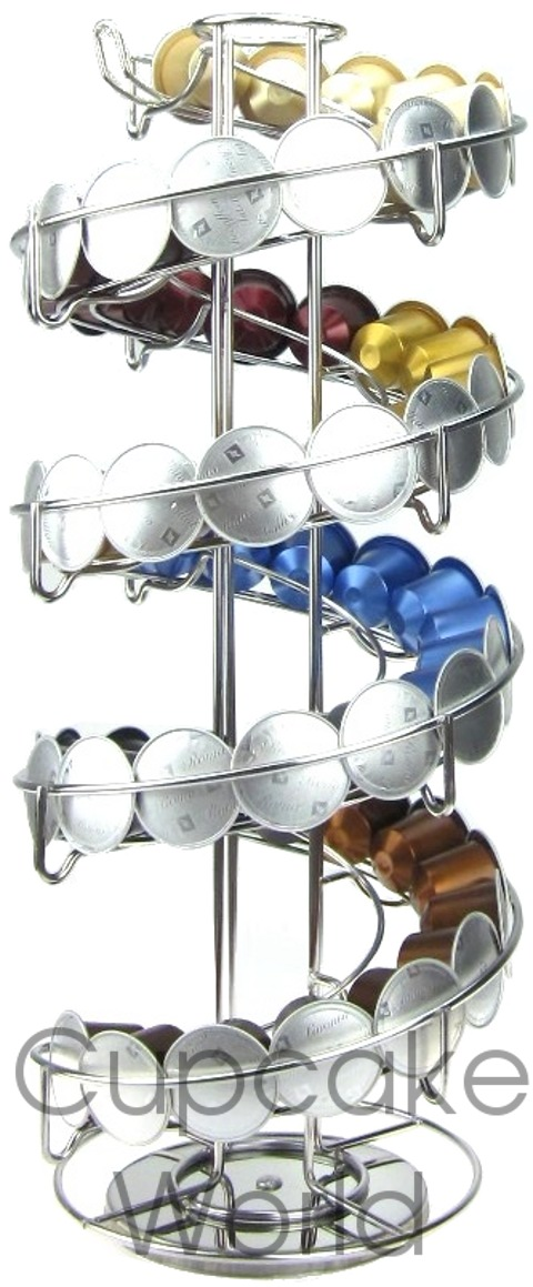 SPIRAL RACK STAND FOR NESPRESSO LAVAZZA EXPRESSI COFFEE CAPSULES