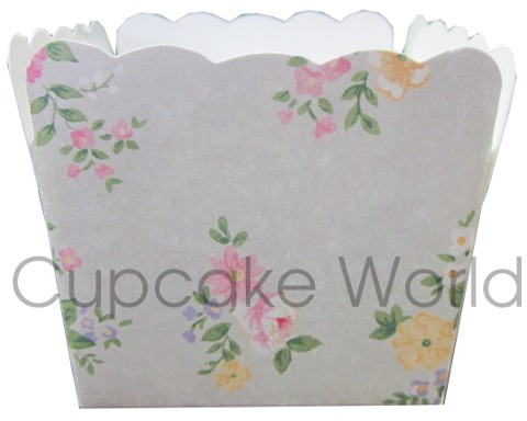 12PCS ROBERT GORDON SQUARE LIBERTY FLORAL CUPCAKE MUFFIN CUPS