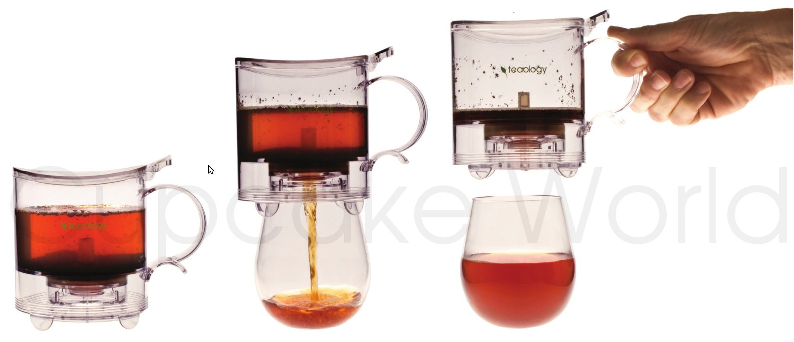 TEAOLOGY TEA MAKER WITH STAINLESS STEEL STRAINER INFUSER 500ML