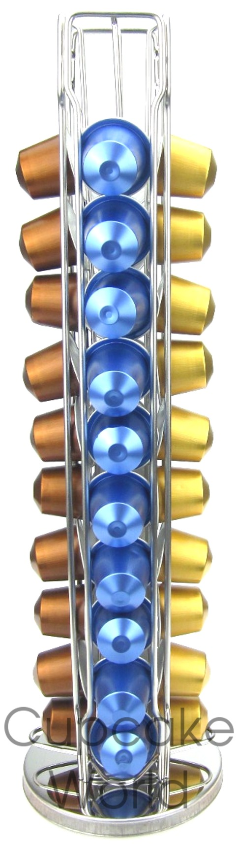 VERTICAL ROTATING COFFEE CAPSULE RACK STAND FOR 40 NESPRESSO POD