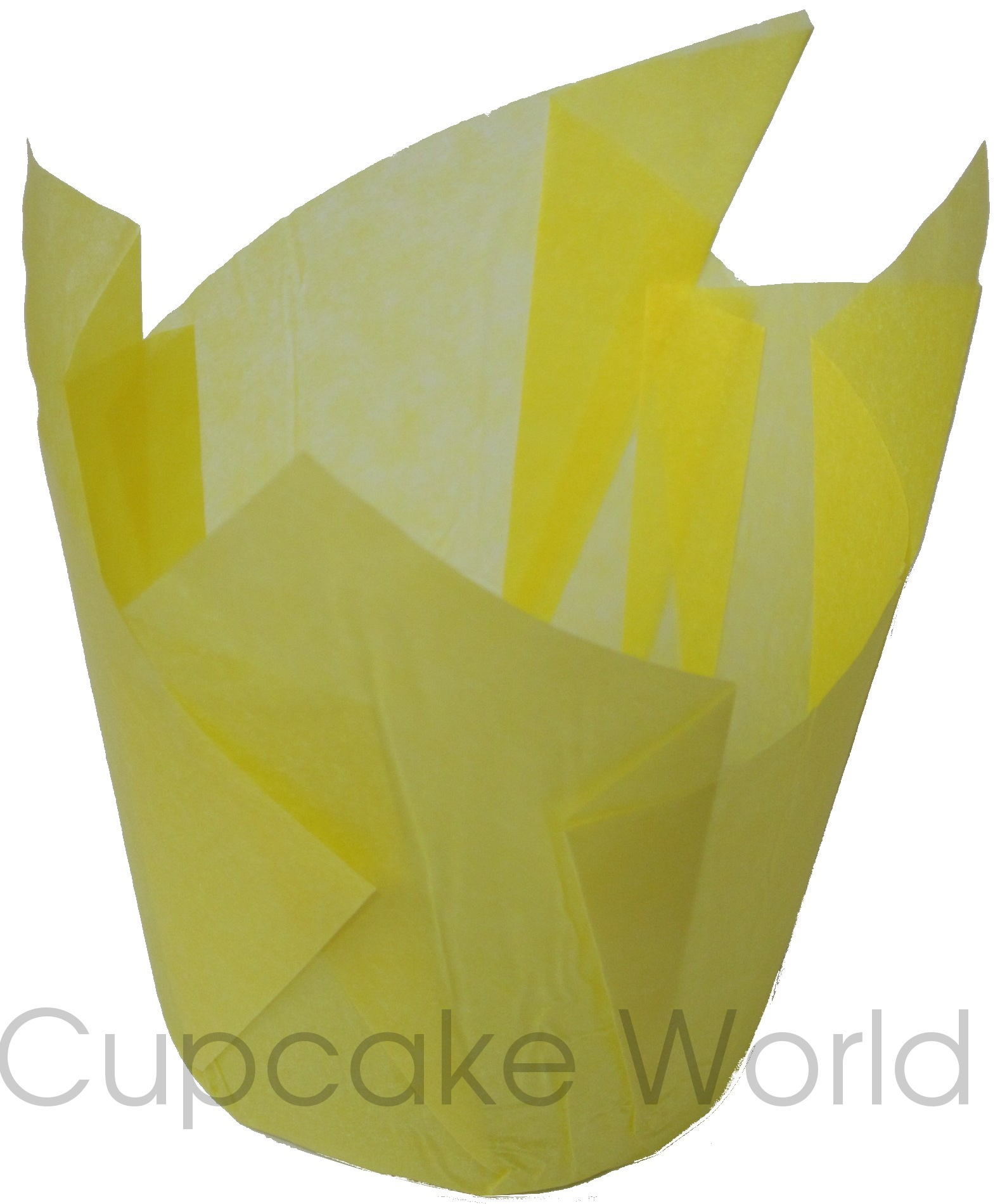 CAFE STYLE PAPER MUFFIN / CUPCAKE CASES YELLOW STD X25!