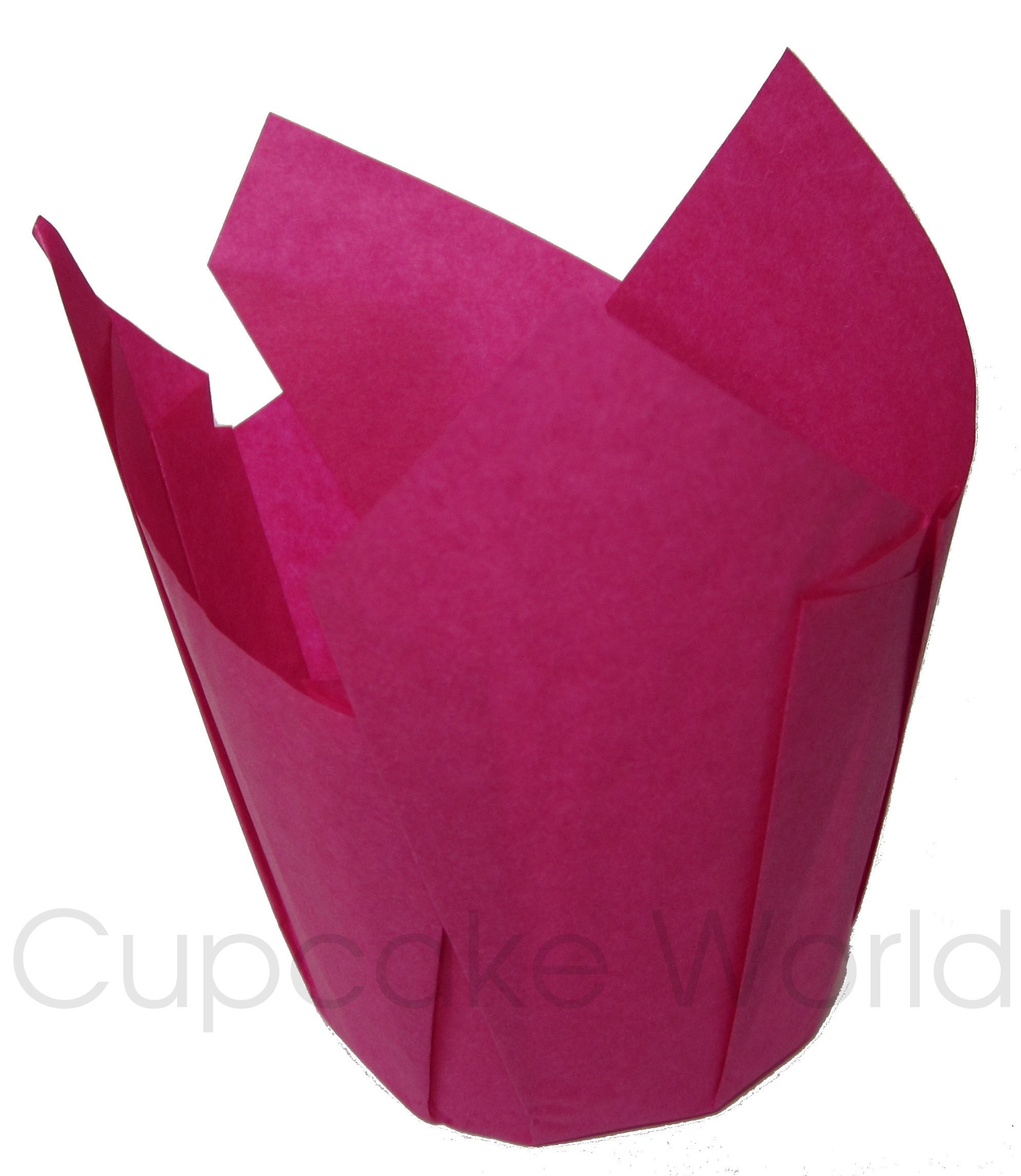 100PC CAFE STYLE HOT PINK PAPER CUPCAKE MUFFIN WRAPS STANDARD