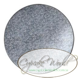 SILVER MASONITE CAKE BOARD BASE (MANY SIZES)