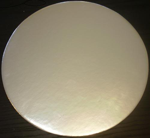 "SILVER ROUND CRAFT CAKE BOARD BASE 4"" PACK OF 10!"