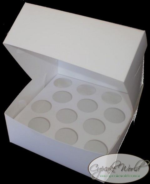 12 HOLE PETIT MUFFIN CUPCAKE CARRIER BOX - SET OF 2