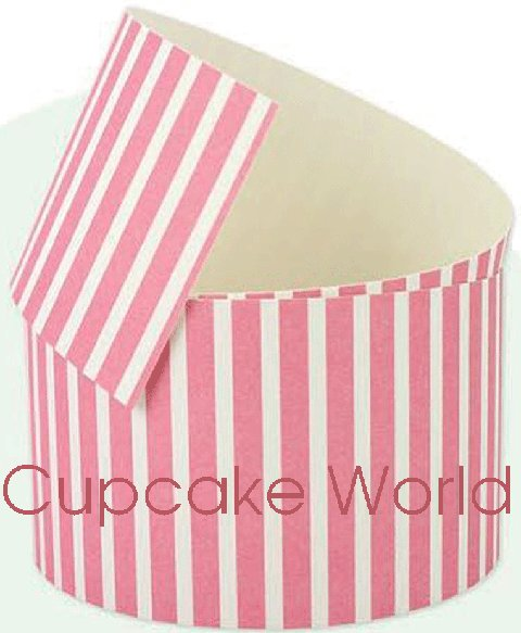 "ROBERT GORDON PINK STRIPES CAKE COLLAR WRAPPER ""PINK ROMANCE"" 1M"