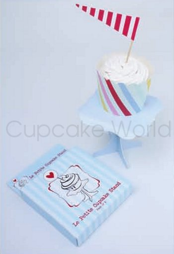 ROBERT GORDON BLUE MINI LE PETITE CUPCAKE STAND DISPLAY 6PK