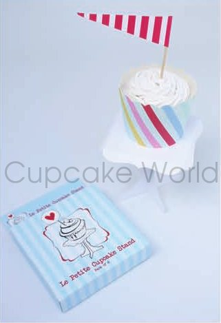 ROBERT GORDON WHITE MINI LE PETITE CUPCAKE STAND DISPLAY 6PK