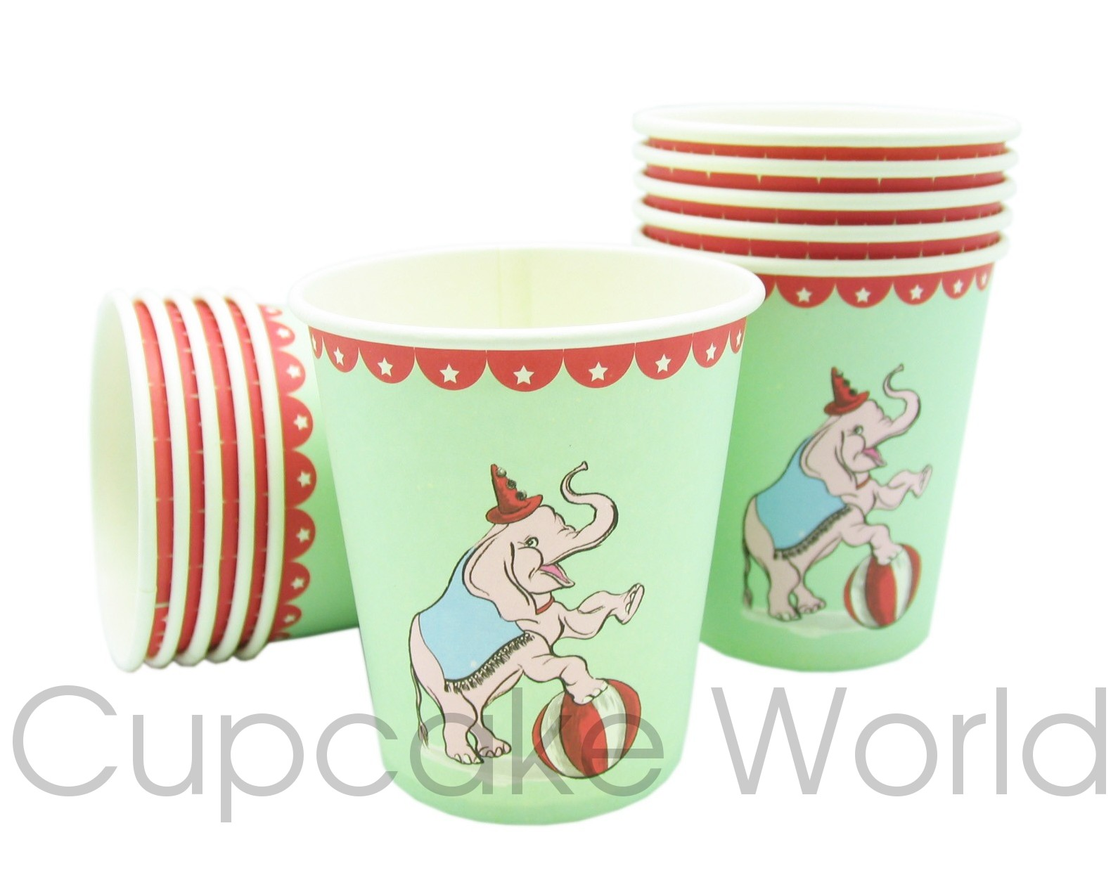 ROBERT GORDON MY LITTLE CIRCUS PARTY PAPER CUPS PACK OF 12
