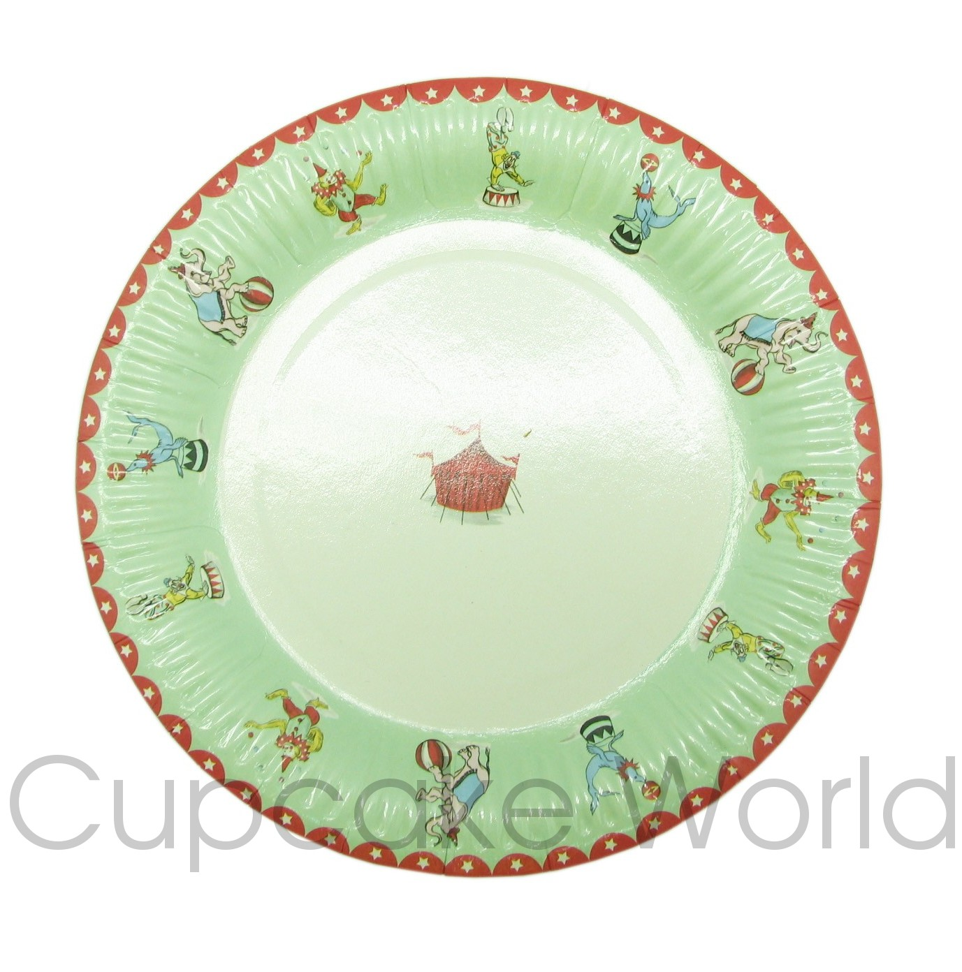 ROBERT GORDON LITTLE CIRCUS PAPER PARTY PLATES 12PK!!
