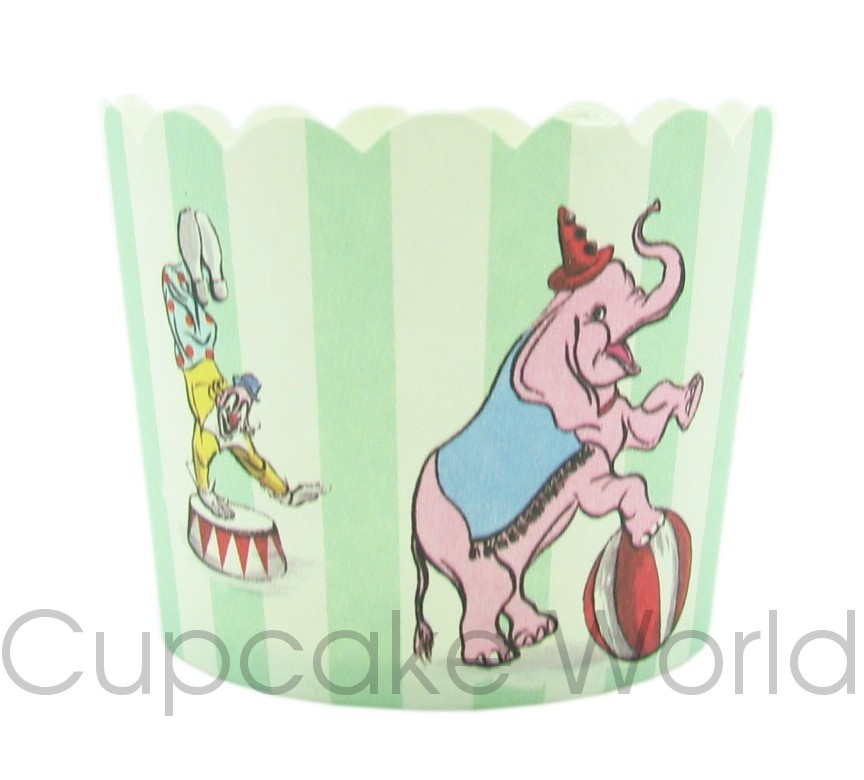 ROBERT GORDON MY LITTLE CIRCUS CUPCAKE CUPS PETIT 24pk!!
