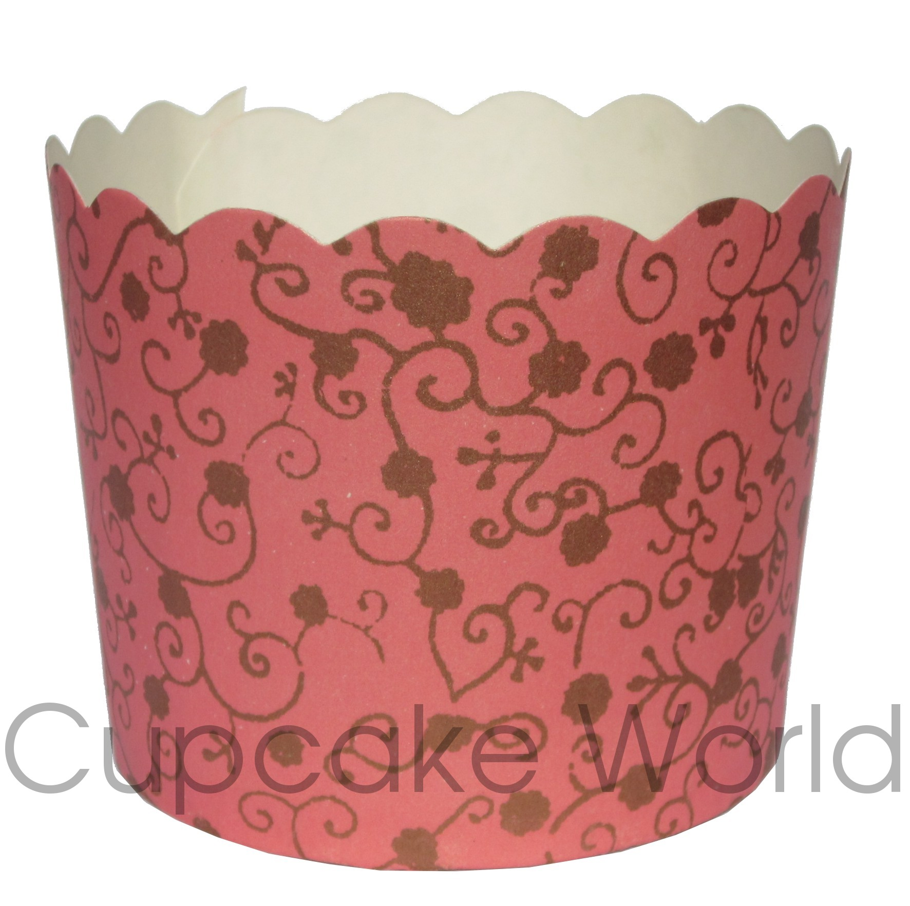 PEACH PINK GOLD FLORAL MUFFIN CUPCAKE CASES CUPS X 25!