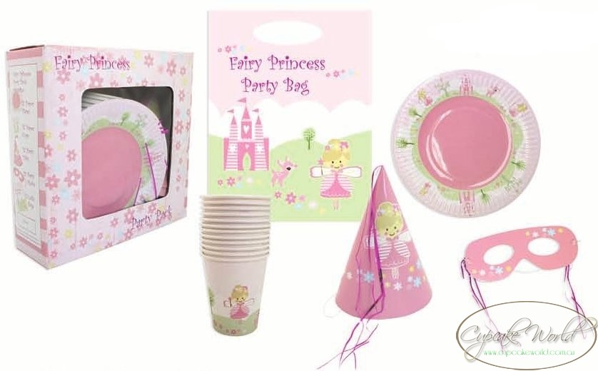 ROBERT GORDON PINK FAIRY PRINCESS PARTY PACK CUP MASK
