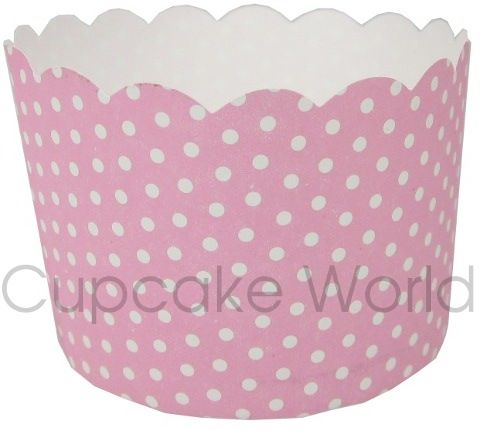 ROBERT GORDON PINK POLKA DOTS MUFFIN CUPCAKE PATTY CASES 50PCS