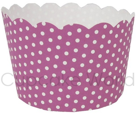 ROBERT GORDON PURPLE POLKA DOTS MUFFIN CUPCAKE PATTY CASES 50PCS