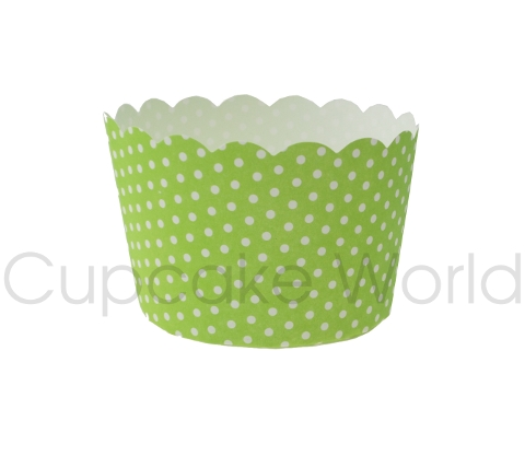 ROBERT GORDON GREEN DOTS PETIT MUFFIN CUPCAKE CASES 50PCS