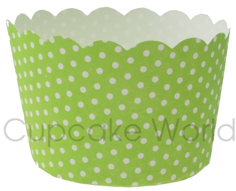 ROBERT GORDON GREEN DOTS MUFFIN / CUPCAKE CASES X 50