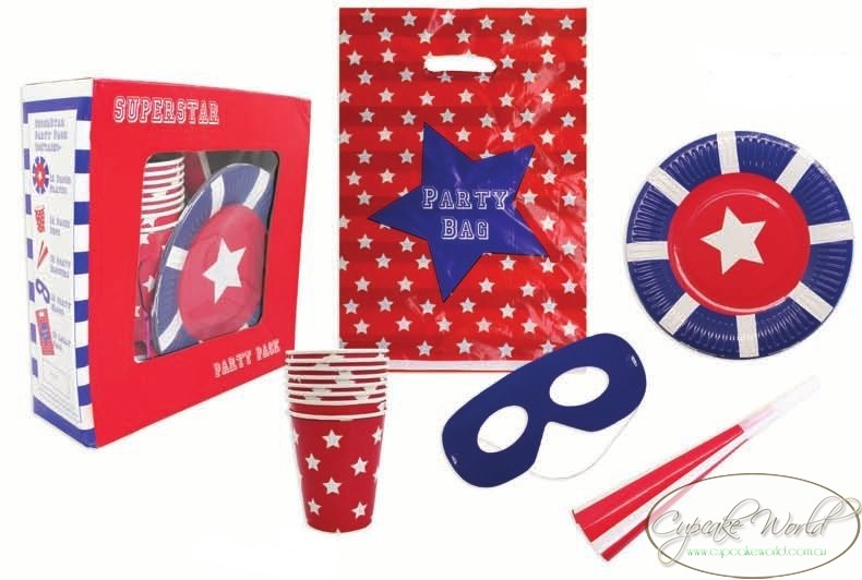 ROBERT GORDON RED SUPERSTAR PARTY PACK CUP BLOWERS BAG